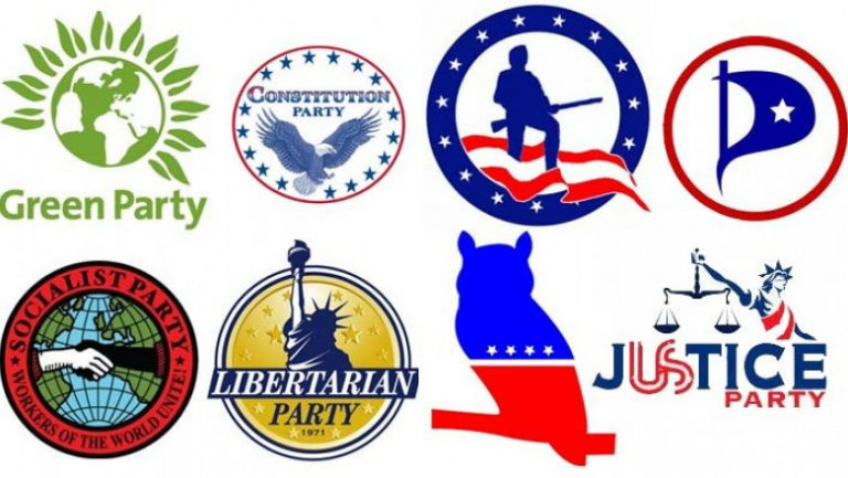 Alternative political party logos