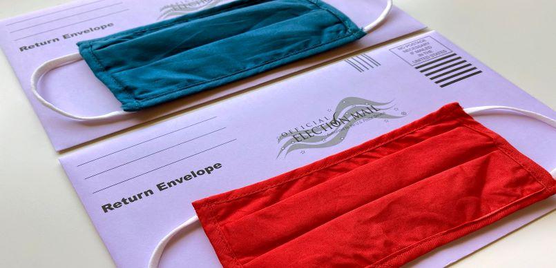 Absentee ballots and masks
