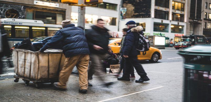 Homeless man new york