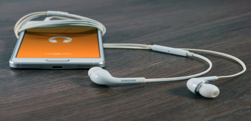Smartphone with ear buds