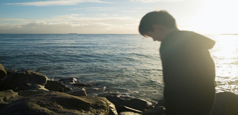 Guy and the ocean
